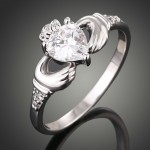 Cheap Calddagh Engagement Ring Idea