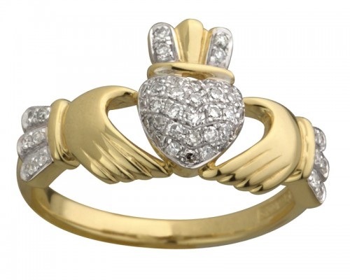 Gold Calddagh Engagement Ring Design