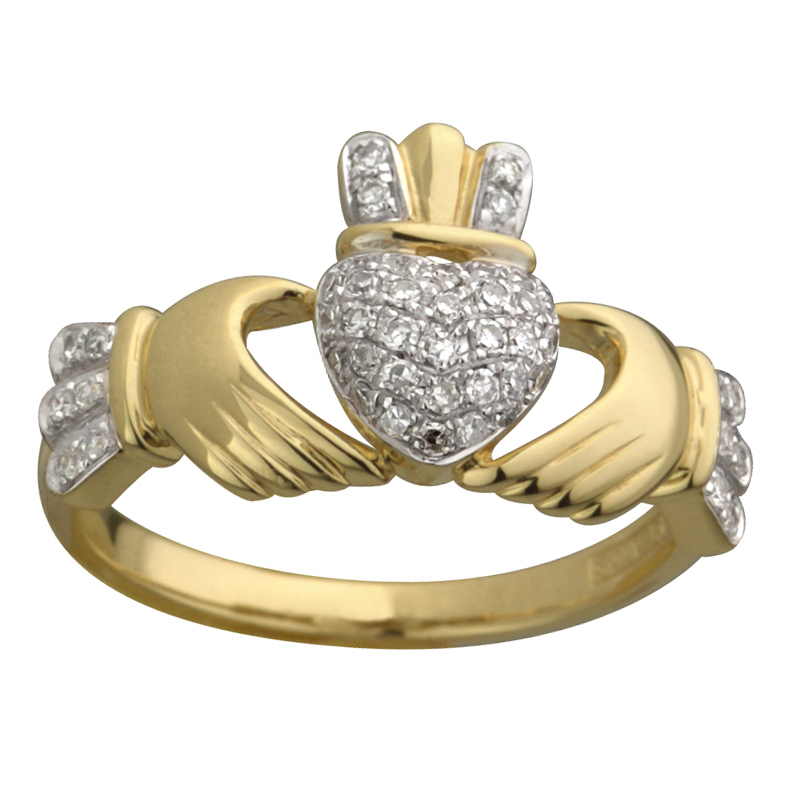 Claddagh Engagement Ring Meaning: gold calddagh engagement ring design