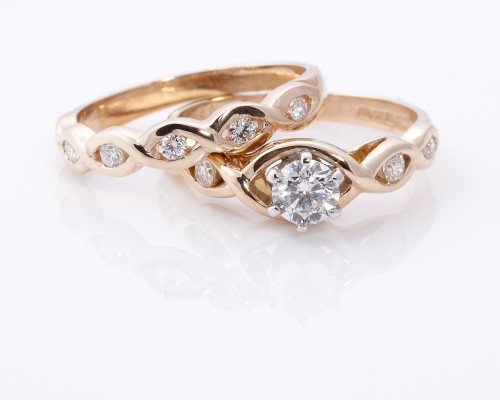 Gold Celtic Engagement Rings Prety
