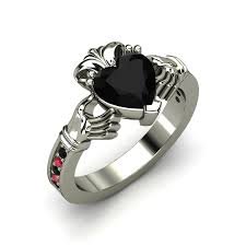 Love Celtic Engagement Rings Black Eyes