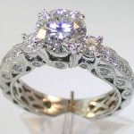 pearl antique style engagement rings models