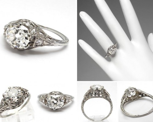 Pinterest Antique Style Engagement Rings Models