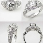 silver antique style engagement rings good