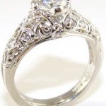 wedding antique style engagement rings design