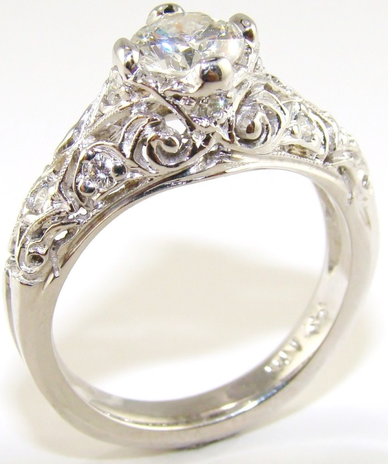 Antique Style Engagement Rings UK: wedding antique style engagement rings design