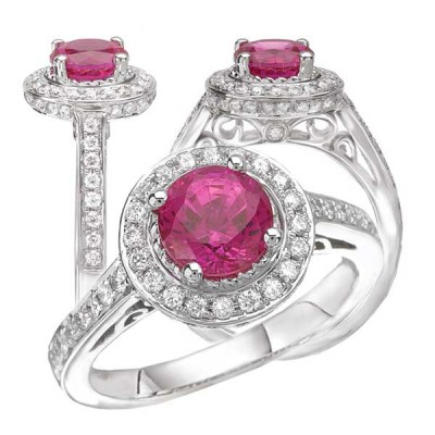 3 Pink Sapphire Engagement Ring Stones
