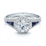 Amazing Diamond And Sapphire Engagement Rings Design