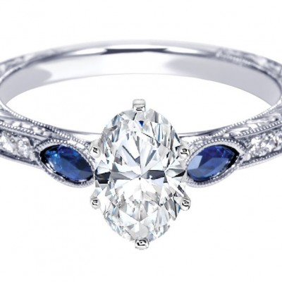 Antique Diamond And Sapphire Engagement Rings Style