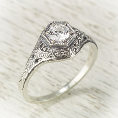 Antique Filigree Engagement Rings Kind