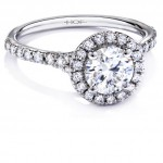 antique halo diamond engagement ring design