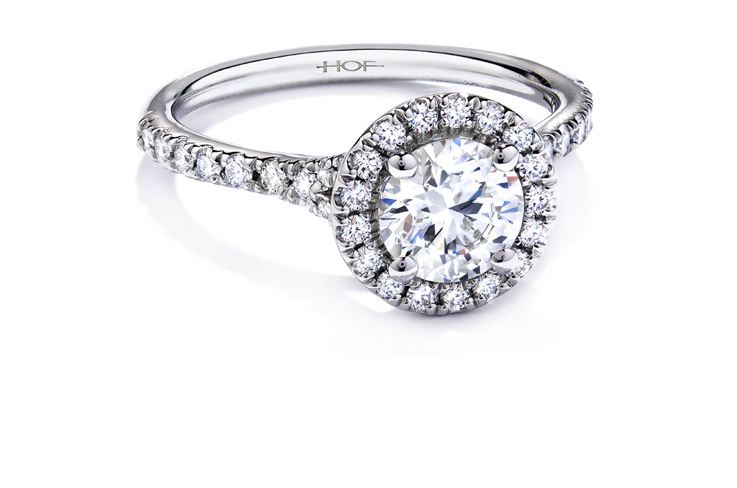 Halo Diamond Engagement Ring Setting: antique halo diamond engagement ring design