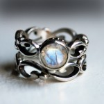 antique moonstone engagement rings design