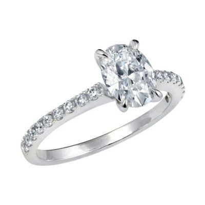 Antique Oval Cut Engagement Rings Style