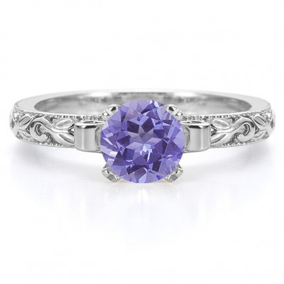 Art Tanzanite Engagement Rings Deco