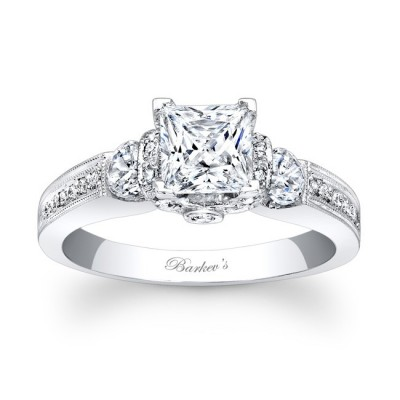 Barkevs Engagement Rings Princess Cut Design