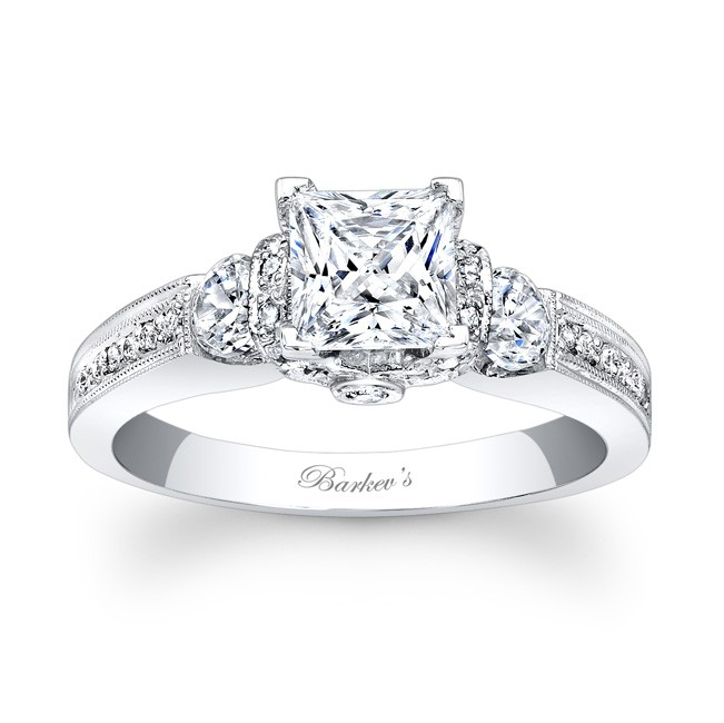 Engagement Rings Princess Cut Zales: barkevs engagement rings princess cut design