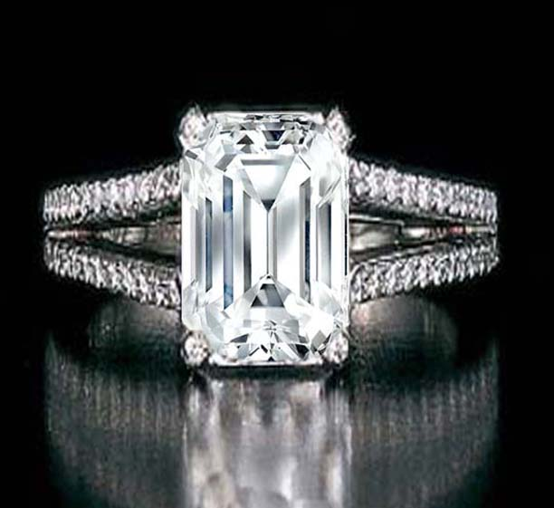 Emerald Cut Engagement Ring Meaning: beautiful emerald cut engagement ring style