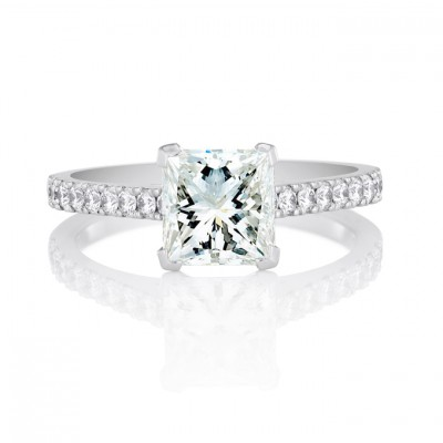 Beautiful Engagement Rings Princess Cut Style