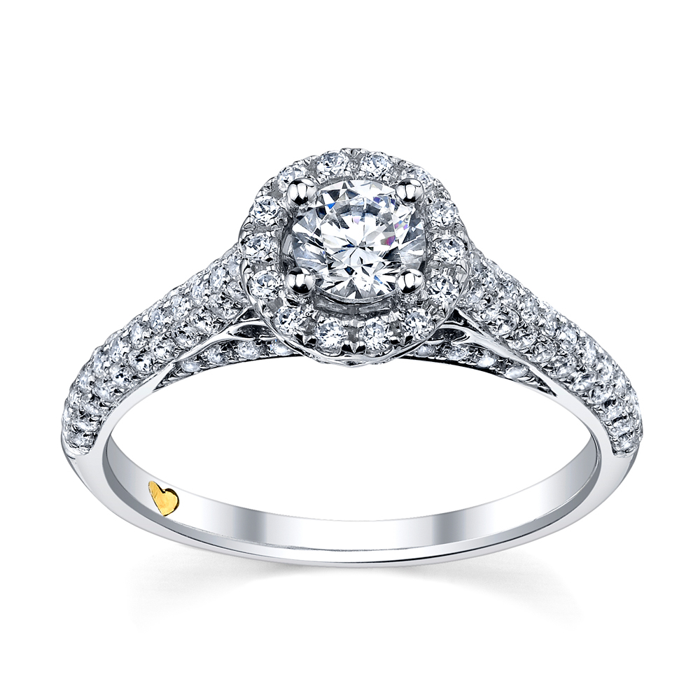 Beautiful Pave Engagement Rings Design
