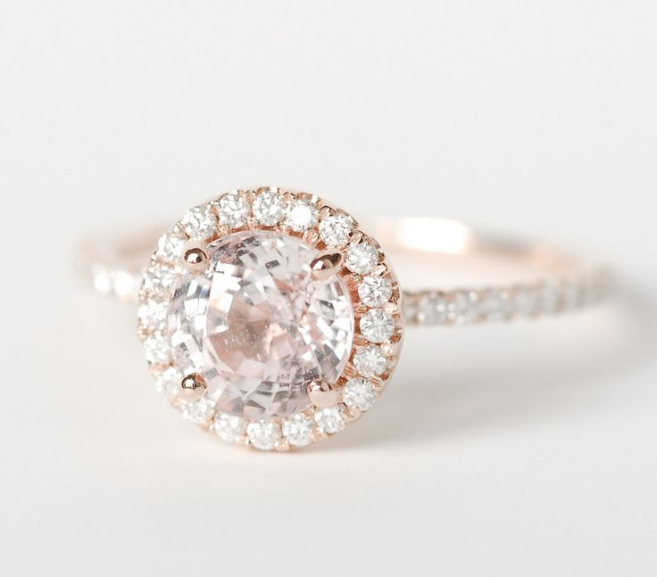 Beautiful Peach Sapphire Engagement Rings Decoration