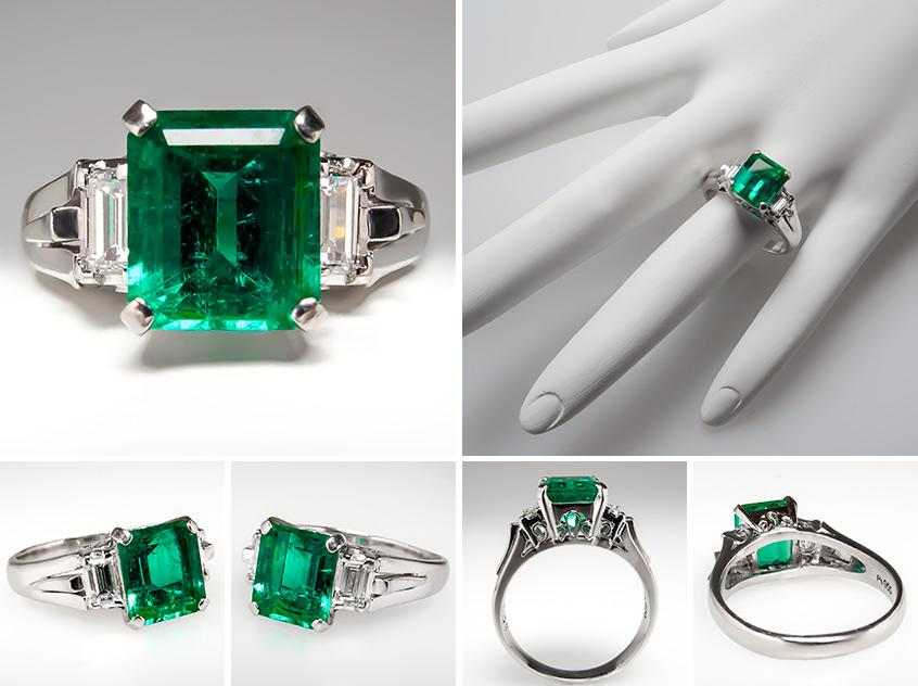 Emerald Engagement Rings Vintage: best-emerald-engagement-ring-style