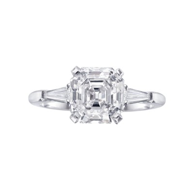 Betteridge Asscher Cut Engagement Ring Design