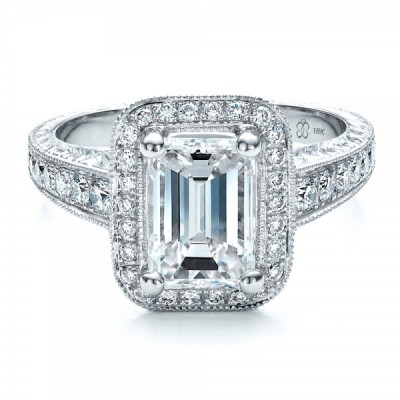 Big Emerald Cut Engagement Ring Design