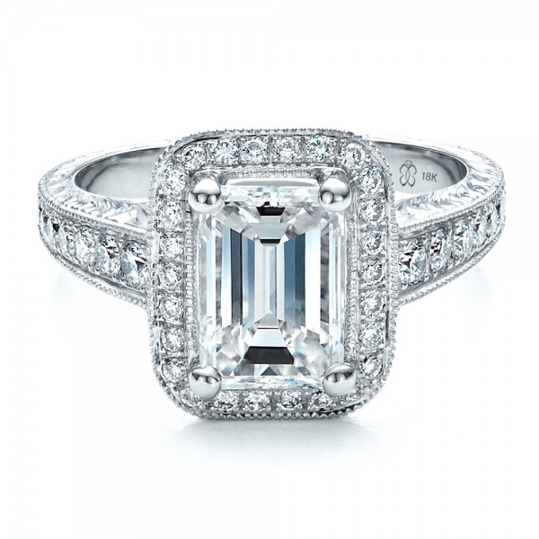 Emerald Cut Engagement Ring Meaning: big emerald cut engagement ring design