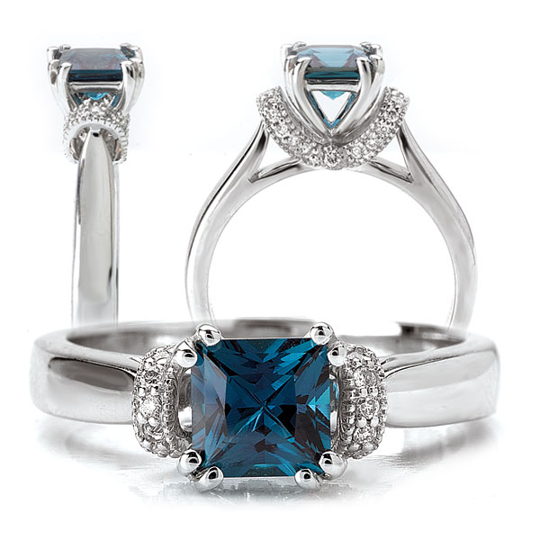 Alexandrite Engagement Ring Meaning: blue alexandrite engagement ring eyes