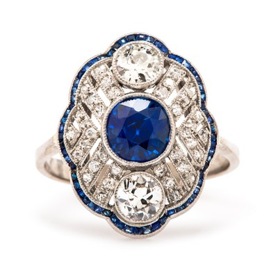 Blue Ashlee Simpson Engagement Ring Flower
