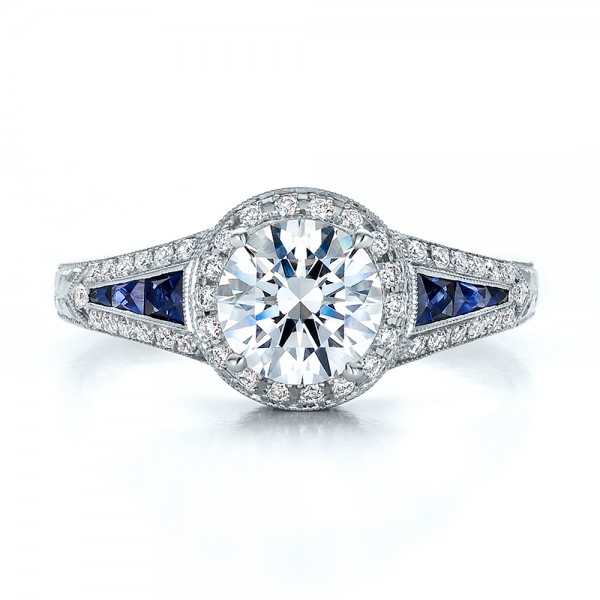 Diamond and Sapphire Engagement Rings Ebay: blue diamond and sapphire engagement rings halo
