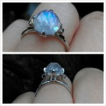 blue moonstone engagement rings eyes