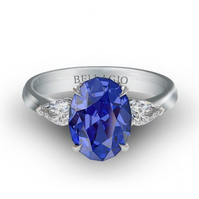 Blue Tanzanite Engagement Rings Color