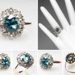 blue victorian engagement rings saphire