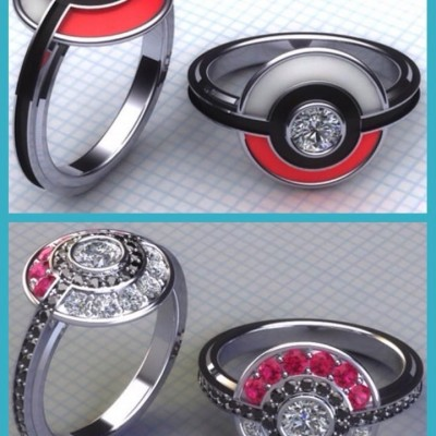 Both Pokemon Engagement Ring Pinterest