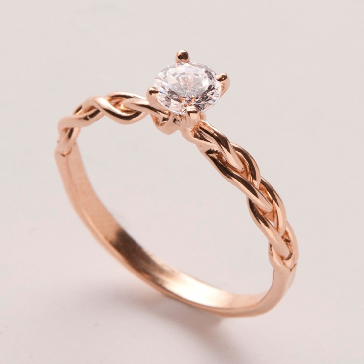 Etsy Engagement Rings Uk: braided etsy engagement rings good