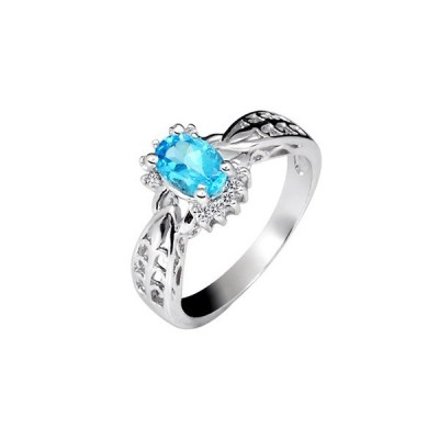 Carat Blue Topaz Engagement Rings Vintage