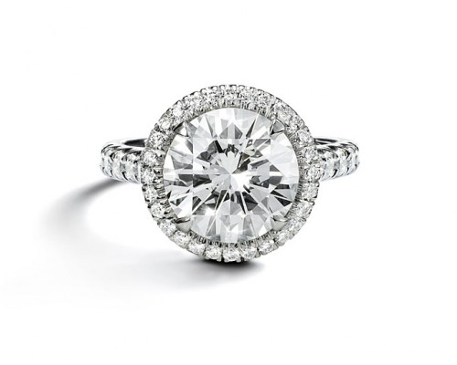 Cartier Pave Engagement Rings Pearl