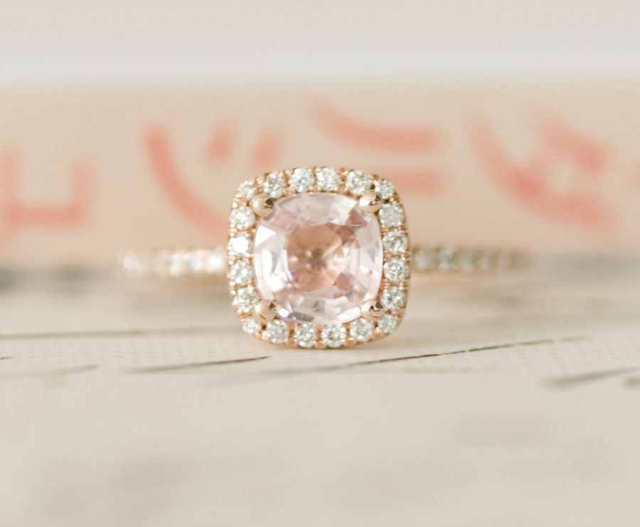 Peach Sapphire Engagement Rings Uk: certified peach sapphire engagement rings pink