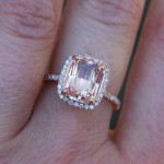 champagne peach sapphire engagement rings design