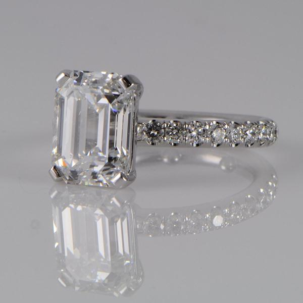 Emerald Cut Engagement Ring Meaning: classic emerald cut engagement ring style