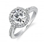 classic halo engagement ring perfect