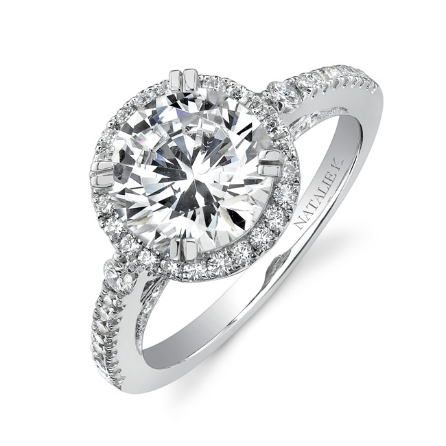 Halo Engagement Rings Classic Halo Engagement Ring Perfect