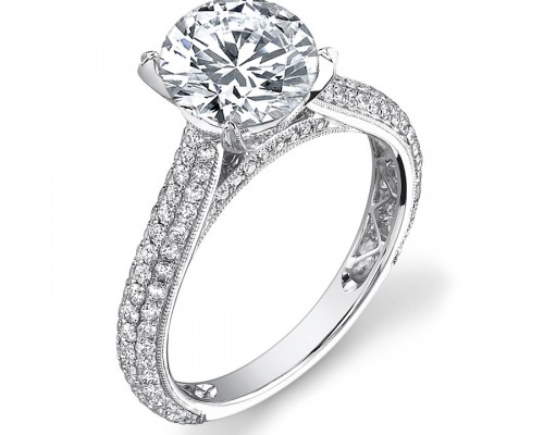 Classic Pave Engagement Rings Halo