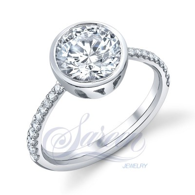 Collection Bezel Engagement Ring Ladies