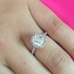 Cool Thin Band Engagement Ring Design