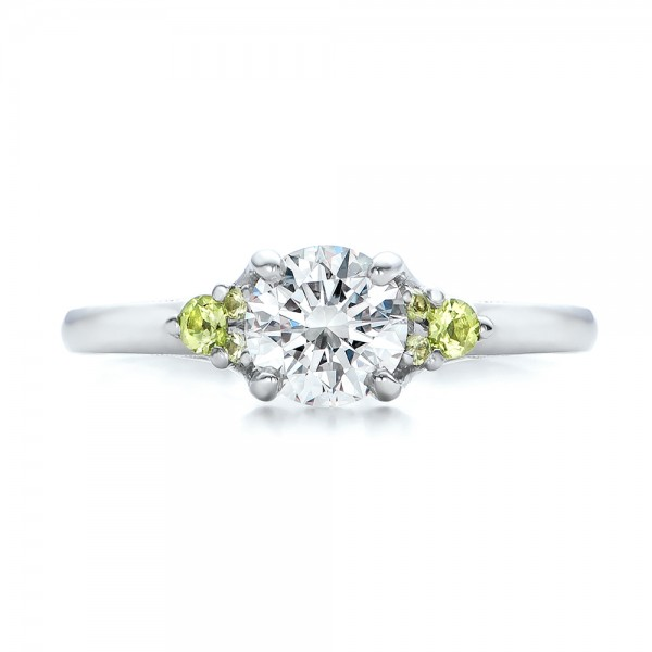 Peridot Engagement Rings Uk: custom peridot engagement rings diamond