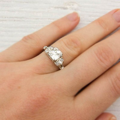 Cut Asscher Cut Engagement Ring Design