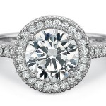 dazling halo diamond engagement ring design